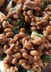 納豆とニラツナの油揚げ焼き