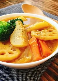 野菜の旨味たっぷり♡簡単スープカレー
