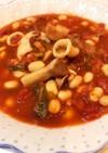 水煮大豆が美味い!イカのトマト煮