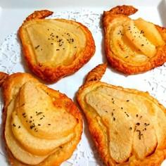 ラ・フランスとクリームチーズの簡単パイ♪