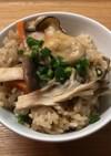 秋だね♪ 牡蠣とキノコの炊き込みご飯♪