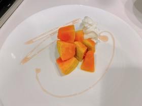 かぼちゃのハチミツとヨーグルト
