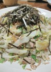 白菜とツナのそうめんチャンプルー