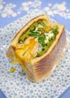 レンジで簡単!小松菜たまごサンド