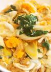 春菊入りの衣笠丼♪卵と春菊が美味♪