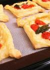 モッツァレラチーズとミニトマトのパイ