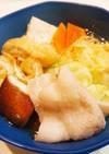 ラーメンスープの素で豚バラ肉のお鍋