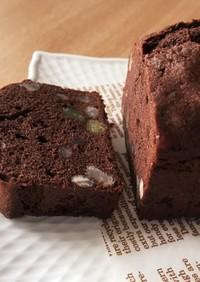 ココアと小豆のパウンドケーキ