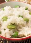 枝豆とシラスの炊き込みご飯