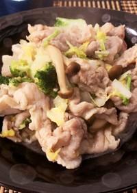 豚肉と白菜の塩麹炒め