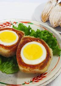 ゆで卵と干し柿の天ぷら