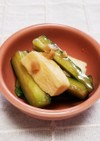 生姜たれドレッシングきゅうり・長芋の漬物