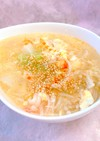 簡単♪白菜とカニカマのシャンタンスープ