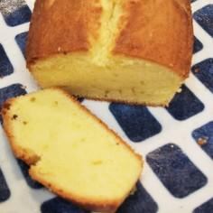 チューブバターで簡単パウンドケーキ