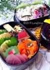鶏肉と豆腐の天ぷら 秋弁当 詰め方