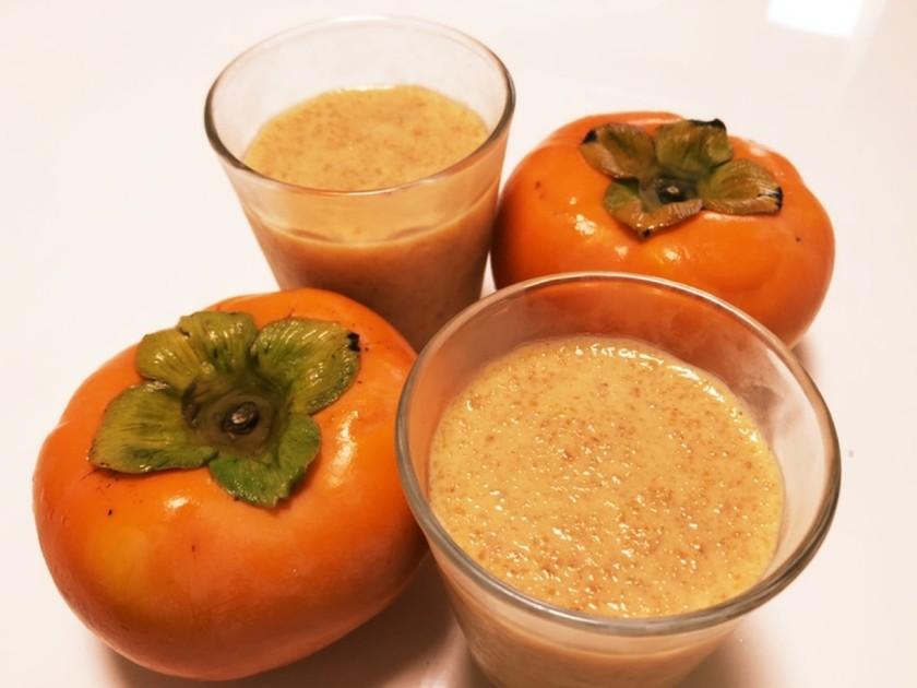 材料2つ!柿と牛乳だけ簡単すぎる柿プリン