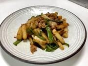 長芋とピーマンのピリ辛炒めの写真