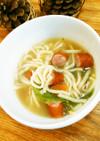 余った焼きそば麺で!断捨離的中華風スープ