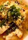 もやしと豆腐のサンラータン風スープ