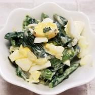 ほうれん草とタルタルソースの簡単サラダ