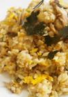 栗とかぶ炊き込みご飯のアレンジチャーハン