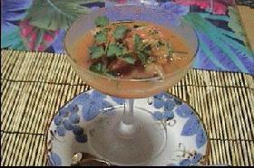 沈む夕陽の赤のセビッチェ    ペルー料理