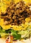 鶏そぼろのオープンオムレツ&サラダ