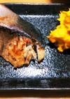 昼ご飯☆ブリのガリ醤油焼とカボサラ