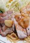 にんにくたっぷり豚カツ用ロース肉の塩焼き