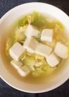 豆腐とレタスのかき玉スープ