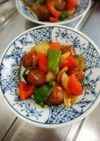 黒酢つゆ&レトルト肉団子で簡単酢豚風
