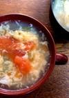 5分で完成!トマトとレタスの卵スープ♪