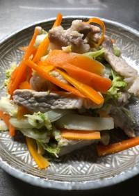 白菜と豚肉の塩麹炒め