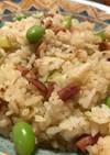 焼豚と枝豆のチャーハン