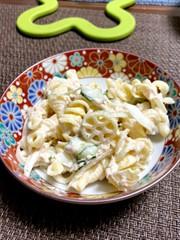 マカロニツナサラダの写真