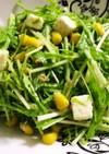 水菜のニンニク風味チーズサラダ