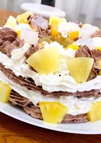 クリームたっぷりバウムクーヘンケーキ