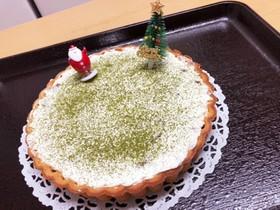 クリスマス♪抹茶チョコのレアチーズケーキ