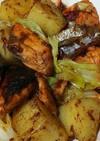 秋鮭とキャベツのマヨちゃんちゃん焼き