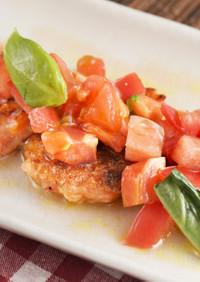 トマト海老餅