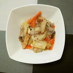 ヨウサマの減塩中華丼(残った野菜で作る)