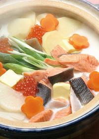 鮭といくらの石狩鍋