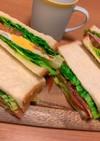 朝から栄養満点!サンドイッチ