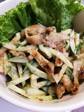 鶏皮ときゅうりのごまポン酢サラダ☆簡単