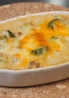 アボカドとキノコの豆乳豆腐味噌グラタン