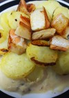 簡単美味・3種のキノコのクリームソース