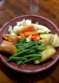 蒸し野菜のバターソテー