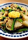 豚バラ肉と小松菜の中華炒め