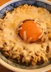 アレンジ★チーズ&たまご・チキンラーメン