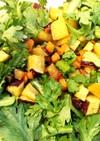 簡単!春菊と根菜のサクホク♪冬サラダ